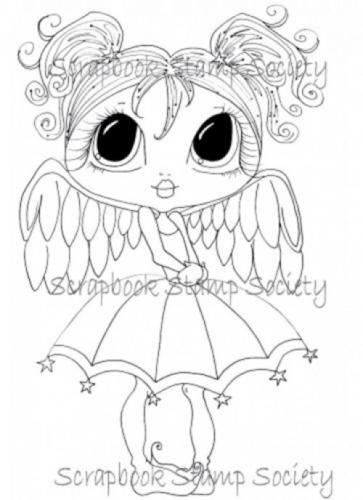 My Bestie digi stamp Lil Miss Angel Wings-My Besties, digi stamps