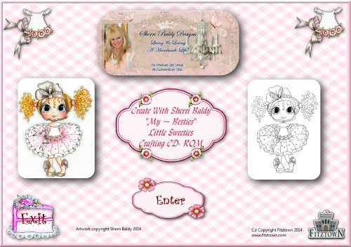 "Sherri Baldy ""Little Sweeties My-Besties CD-Sherri Baldy, my Besties, CD, crafts, Dolls, digi stamps,"