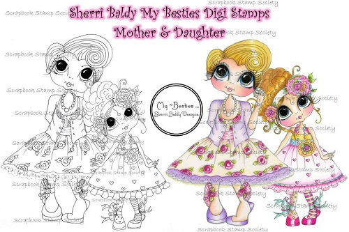 My-Besties digi stamp Mother and daughter Besties-digi stamps, My Besties, Mother's day, mom
