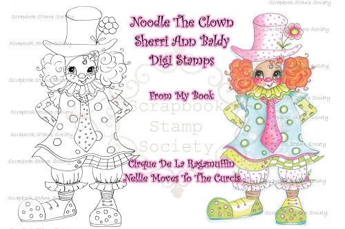 My Bestie digi stamp Noodles the Clown-My besties, digi stamp, clown, circus