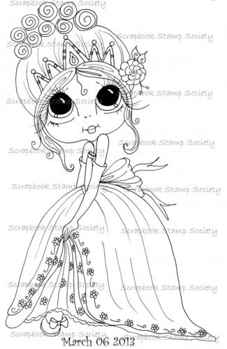 My Bestie digi stamp Princess Twinkletoes-My Besties, digi stamp