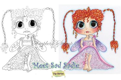 My Bestie digi stamp Sad Sadie-my besties, digi stamp, fairy