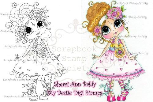My-Besties digi stamp Sweet Mary Lou-My Besties, digi stamps