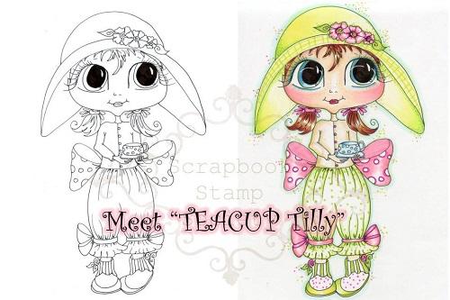 My-Besties digi stamp Teacup Tilly-My Besties, Digi stamps, tea