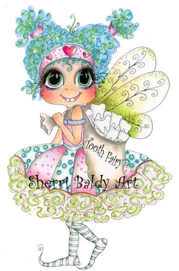 My-Besties Tooth Fairy Girl Fine Art Print-