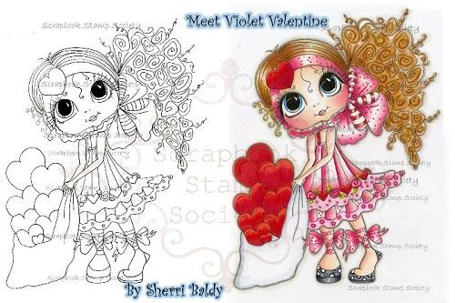 My Bestie digi stamp Violet Valentine-My Besties, digi stamps, Valentine's day,love